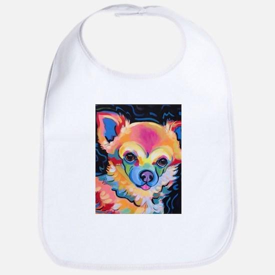 Neon Pomeranian or Chihuahua Portrait Bib
