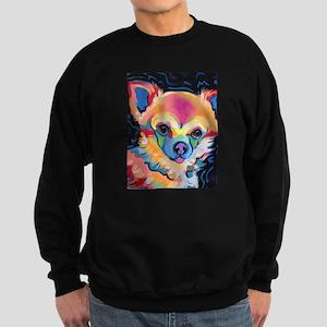 Neon Pomeranian or Chihuahua Por Sweatshirt (dark)