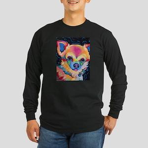 Neon Pomeranian or Chihuahua P Long Sleeve T-Shirt