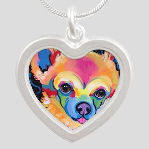Neon Pomeranian or Chihuahua Portrait Necklaces