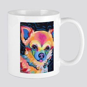 Neon Pomeranian or Chihuahua Portrait Mugs