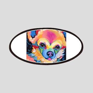 Neon Pomeranian or Chihuahua Portrait Patch