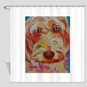 Harvey the Doodle Shower Curtain