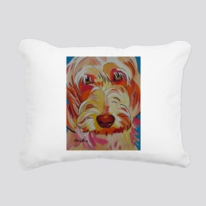 Harvey the Doodle Rectangular Canvas Pillow