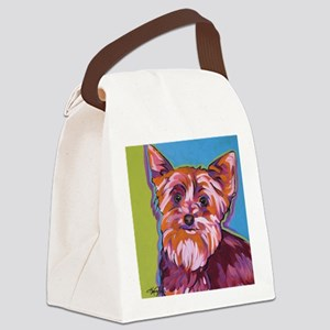 Maggie the Yorkie Canvas Lunch Bag
