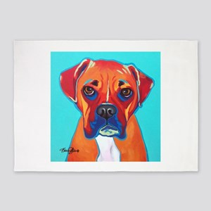 Bella The Boxer 5'x7'Area Rug