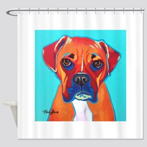 Bella The Boxer Shower Curtain