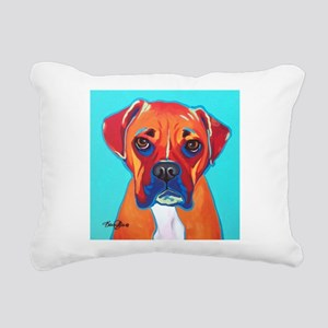 Bella The Boxer Rectangular Canvas Pillow