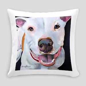 Charlie The Pitbull Dog Portrait Everyday Pillow