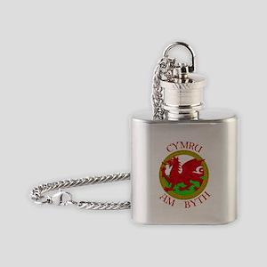 Ddraig Goch Flask Necklace