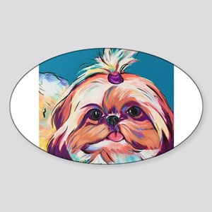 Pebbles the Shih Tzu Dog Art Sticker