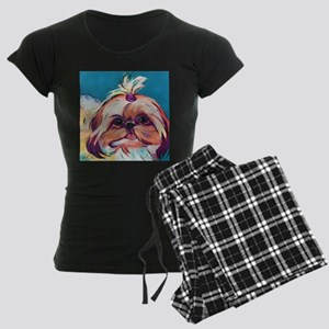 Pebbles the Shih Tzu Dog Art Women's Dark Pajamas