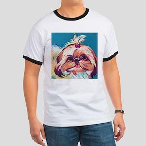 Pebbles the Shih Tzu Dog Art T-Shirt