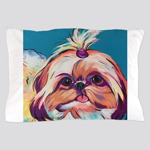 Pebbles the Shih Tzu Dog Art Pillow Case