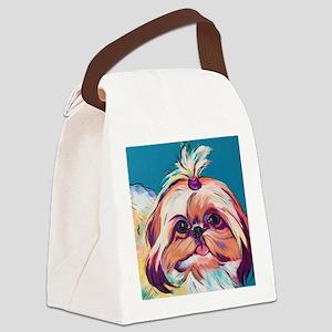 Pebbles the Shih Tzu Dog Art Canvas Lunch Bag