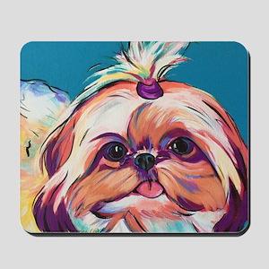 Pebbles the Shih Tzu Dog Art Mousepad