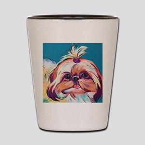 Pebbles the Shih Tzu Dog Art Shot Glass