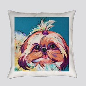 Pebbles the Shih Tzu Dog Art Everyday Pillow