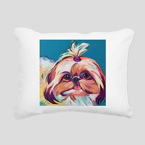Pebbles the Shih Tzu Dog Rectangular Canvas Pillow