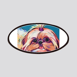Pebbles the Shih Tzu Dog Art Patch