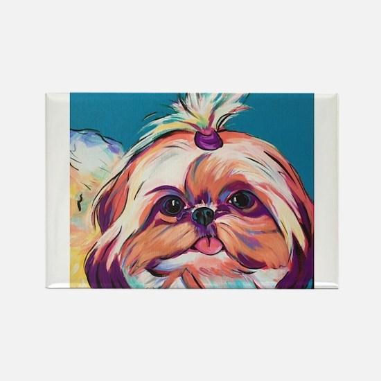 Pebbles the Shih Tzu Dog Art Magnets