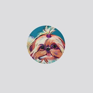 Pebbles the Shih Tzu Dog Art Mini Button