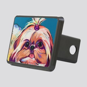 Pebbles the Shih Tzu Dog A Rectangular Hitch Cover