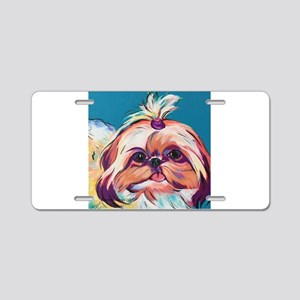 Pebbles the Shih Tzu Dog Ar Aluminum License Plate
