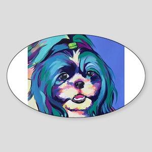 Herkey the Shih Tzu Dog Art Sticker
