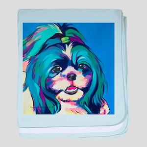 Herkey the Shih Tzu Dog Art baby blanket