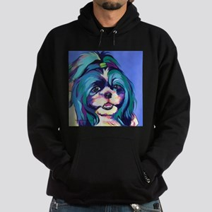 Herkey the Shih Tzu Dog Art Hoodie (dark)