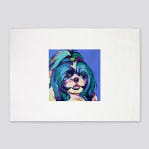 Herkey the Shih Tzu Dog Art 5'x7'Area Rug