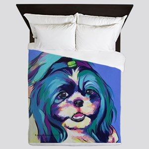 Herkey the Shih Tzu Dog Art Queen Duvet