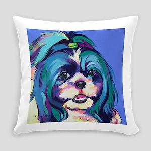 Herkey the Shih Tzu Dog Art Everyday Pillow