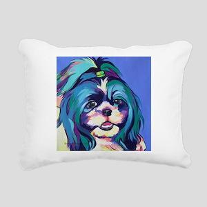 Herkey the Shih Tzu Dog Rectangular Canvas Pillow
