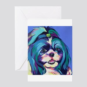 Herkey the Shih Tzu Dog Art Greeting Cards