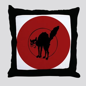 IWW Cat Logo Throw Pillow