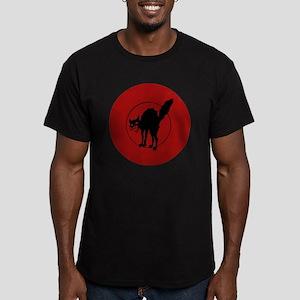 IWW Cat Logo Men's Fitted T-Shirt (dark)