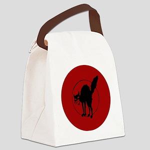 IWW Cat Logo Canvas Lunch Bag