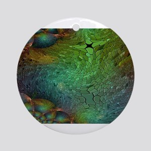 Iridescent Abstract Bubbles Round Ornament