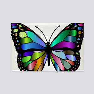Prismatic Rainbow Winged Butterfly Magnets