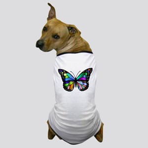 Prismatic Rainbow Winged Butterfly Dog T-Shirt
