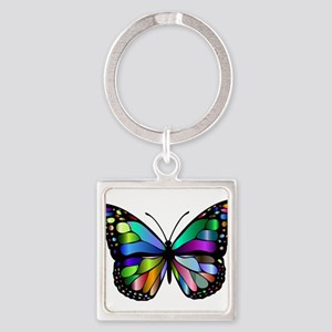 Prismatic Rainbow Winged Butterfly Keychains