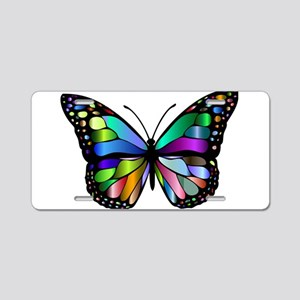 Prismatic Rainbow Winged Bu Aluminum License Plate