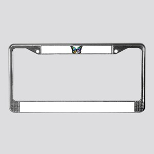 Prismatic Rainbow Winged Butte License Plate Frame