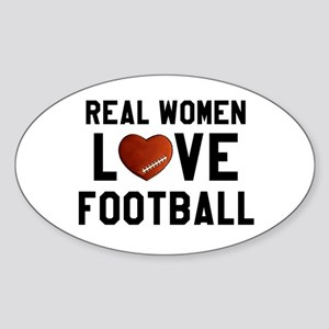 Real Women Love Football Sticker