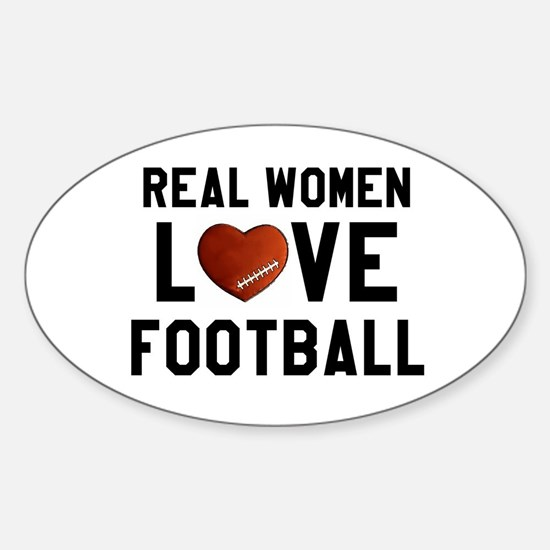 Real Women Love Football Decal