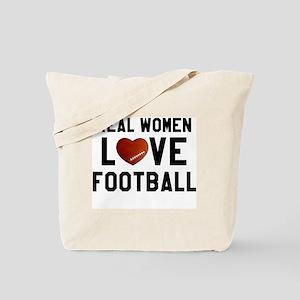 Real Women Love Football Tote Bag