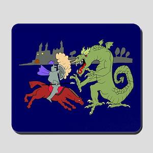 Fighting the Dragon Mousepad