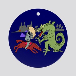 Fighting the Dragon Ornament (Round)